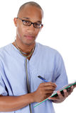 Young successful African American man doctor Stock Photos