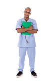 Young successful African American man doctor Royalty Free Stock Photo