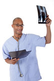 Young successful African American man doctor, xray Stock Photography