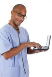 Young successful African American man doctor, xray Stock Images