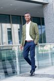 Young successful african business man outdoor in summer Stock Photos