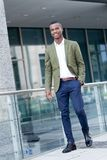 Young successful african business man outdoor in summer Stock Image