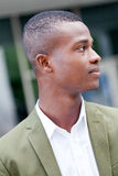Young successful african business man outdoor in summer Royalty Free Stock Photos