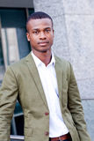 Young successful african business man outdoor in summer Stock Photography