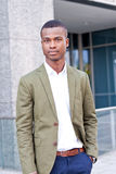 Young successful african business man outdoor in summer Stock Photo