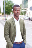 Young successful african business man outdoor in summer Royalty Free Stock Photo
