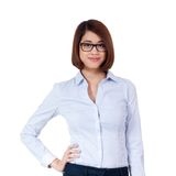 Young successful attractive asian businesswoman Stock Photos