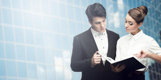 Young successful business people Royalty Free Stock Photography