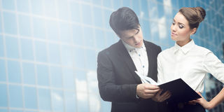 Young successful business people Stock Image