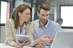 Young successful business people working Stock Photos