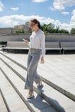 Successful business woman urban fashion lifestyle royalty free stock photos
