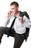 The young successful businessman stock photos
