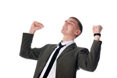 The young successful businessman royalty free stock images