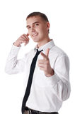 The young successful businessman royalty free stock image