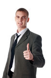 The young successful businessman royalty free stock photo