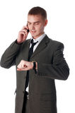 The young successful businessman royalty free stock photos