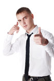 The young successful businessman royalty free stock photography