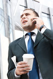 Young and successful businessman Stock Photo