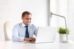 Young and successful businessman Royalty Free Stock Photos