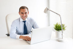 Young and successful businessman Stock Image