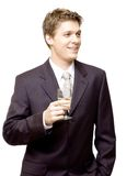 Young successful businessman celebrating  Stock Image
