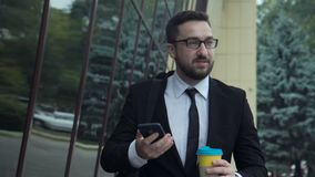 Businessman on the street stock footage