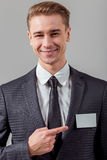 Young successful businessman Royalty Free Stock Photos