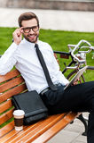 Young and successful businessman. Stock Photography