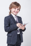Young Successful Businessman With A Tablet In Hands Stock Photos