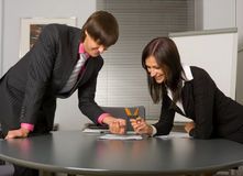 Young Successful businessteam at a meeting Royalty Free Stock Image
