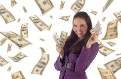 Young successful businesswoman Stock Images