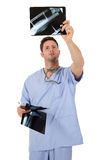 Young successful caucasian man doctor, x-ray stock images