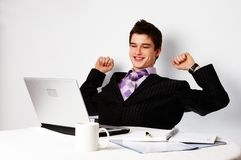 Young successful confident man Royalty Free Stock Image