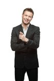 Young successful smiling businessman Stock Photography