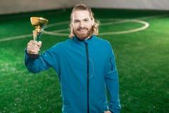 Football champion royalty free stock image