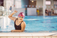 Young and successful swimmers pose Stock Image