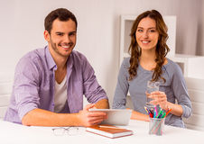 Young successful team working Royalty Free Stock Image
