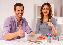 Young successful team working Royalty Free Stock Photo