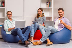 Young successful team working Stock Photos