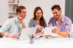 Young successful team working Stock Image