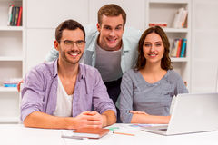 Young successful team working Royalty Free Stock Photos