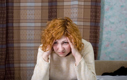 Young suffering woman Royalty Free Stock Photo