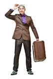 Young suitcase guy Stock Photography