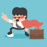 Young  super Businessman Royalty Free Stock Images
