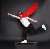 Young super hero man in studio Stock Photos