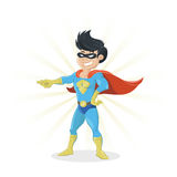 Young Super Hero showing finger. Vector illustration of a Young Super Hero showing finger Royalty Free Stock Image