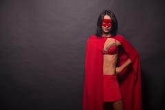 Young super hero woman in studio Stock Photo
