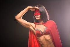 Young super hero woman in studio Stock Photos