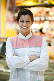 Young supermarket employee Royalty Free Stock Image