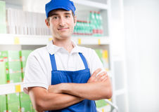 Young supermarket worker Royalty Free Stock Photo